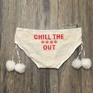 Victoria's Secret Chill The F Out Pom Pom Panties